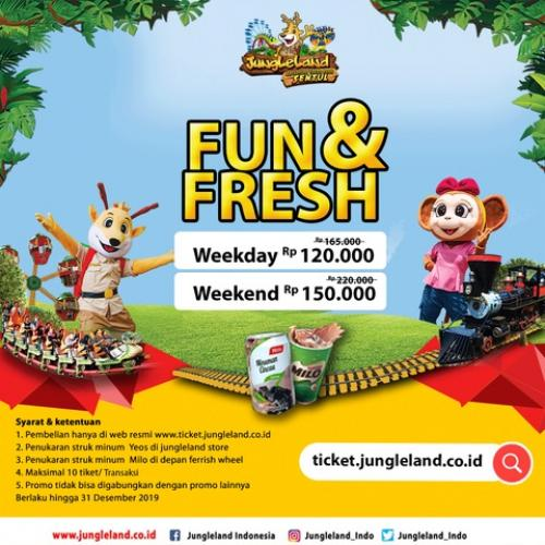 Jungleland Promo Fun & Fresh, HTM Mulai Rp. 120.000!