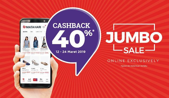 Matahari.com Promo Cashback 40% Dengan Ovo
