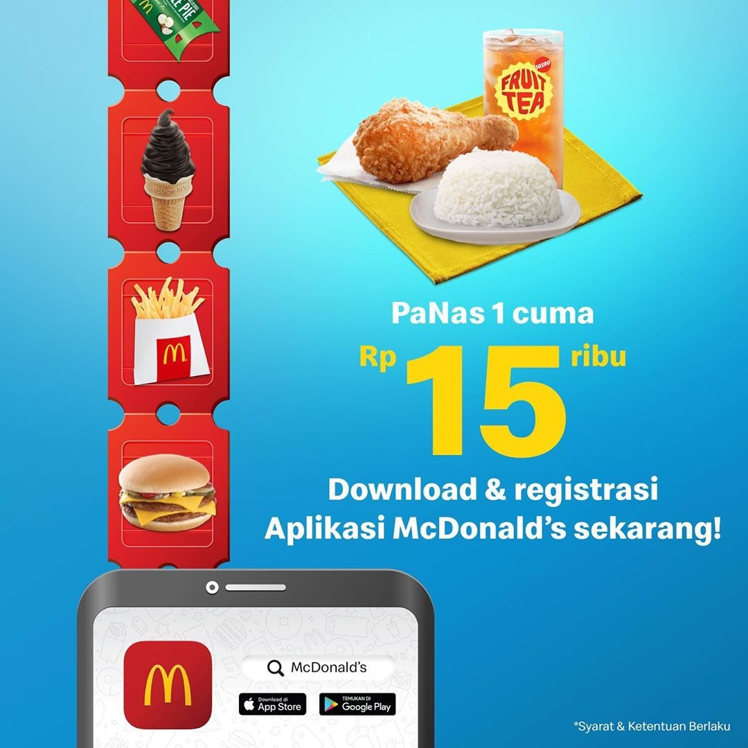 McDonalds Promo Harga Spesial PaNas 1 CUMA Rp. 15.000!