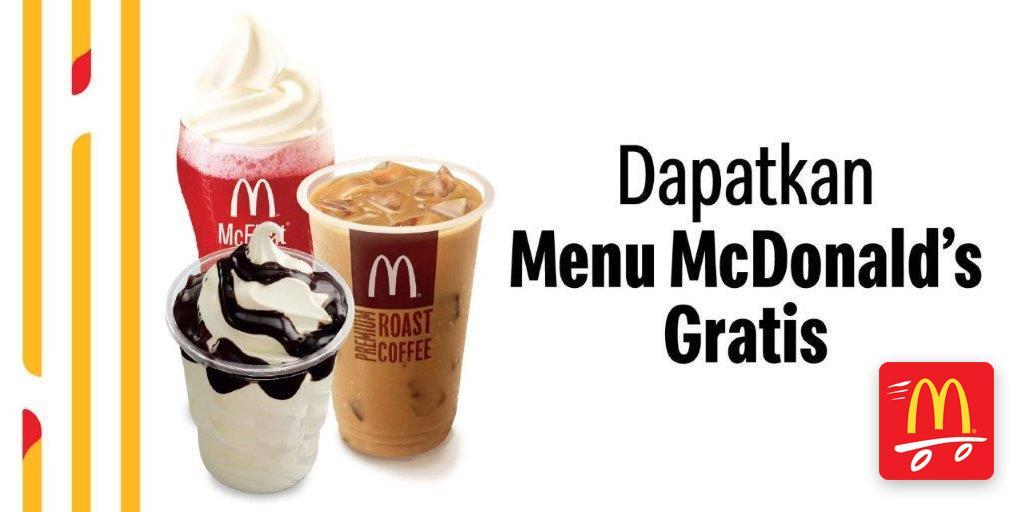 McDonalds Promo Spesial Drive Thru, Gratis Menu Pilihan! Ini Caranya.