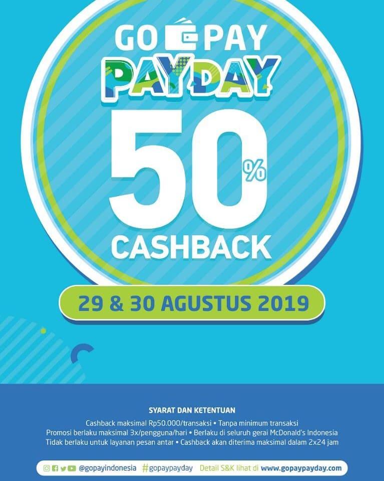 McDonalds Promo Gopay Payday Is Backkk, Cashback 50%!