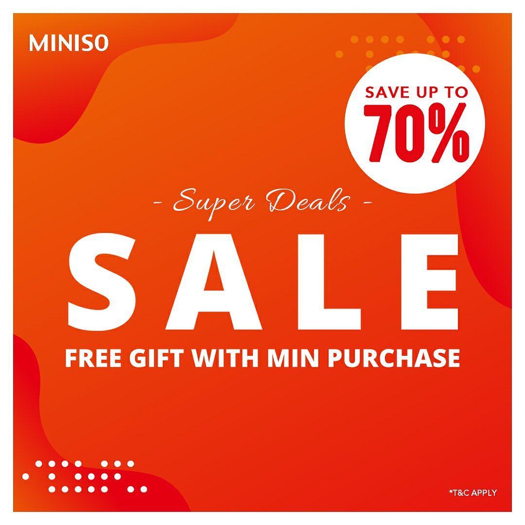 Miniso Promo Super Deals Sale, Diskon Hingga 70%