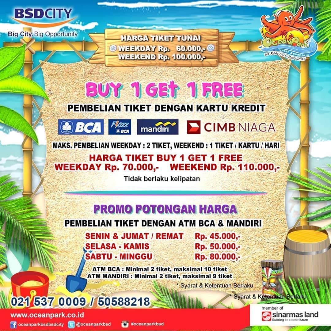 Ocean Park BSD Promo Berenang Hemat, Beli 1 Gratis 1 Dan Harga Spesial