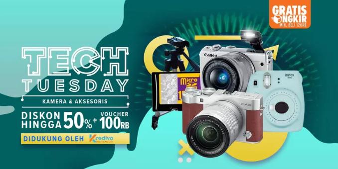 Lazada Tech Tuesday DISKON Hingga 50% + Voucher Rp. 100 Ribu!