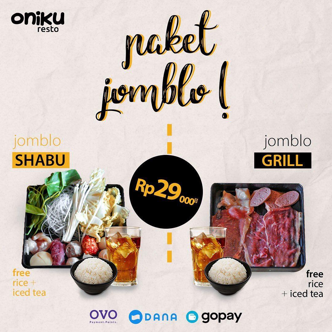 Oniku Shabu & Grill Promo Paket Jomblo, Ini Dia Harganya!