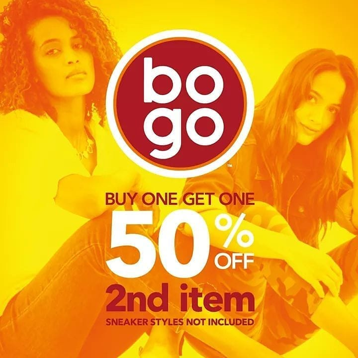 Payless Promo Big Sale, Buy 1 Get 1 Disc 50% Off!