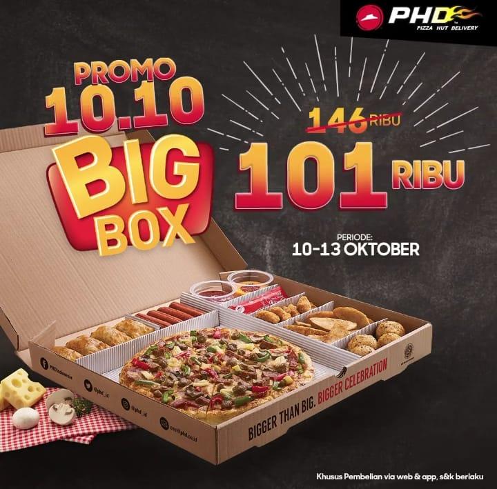 PHD Pizza Hut Promo Spesial Super 10.10, Big Box TURUN HARGA JADI Rp. 101.000!