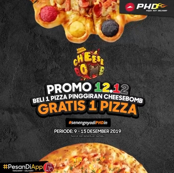 PHD Pizza Hut Delivery Promo Spesial Harbonas, Beli 1 Gratis 1!