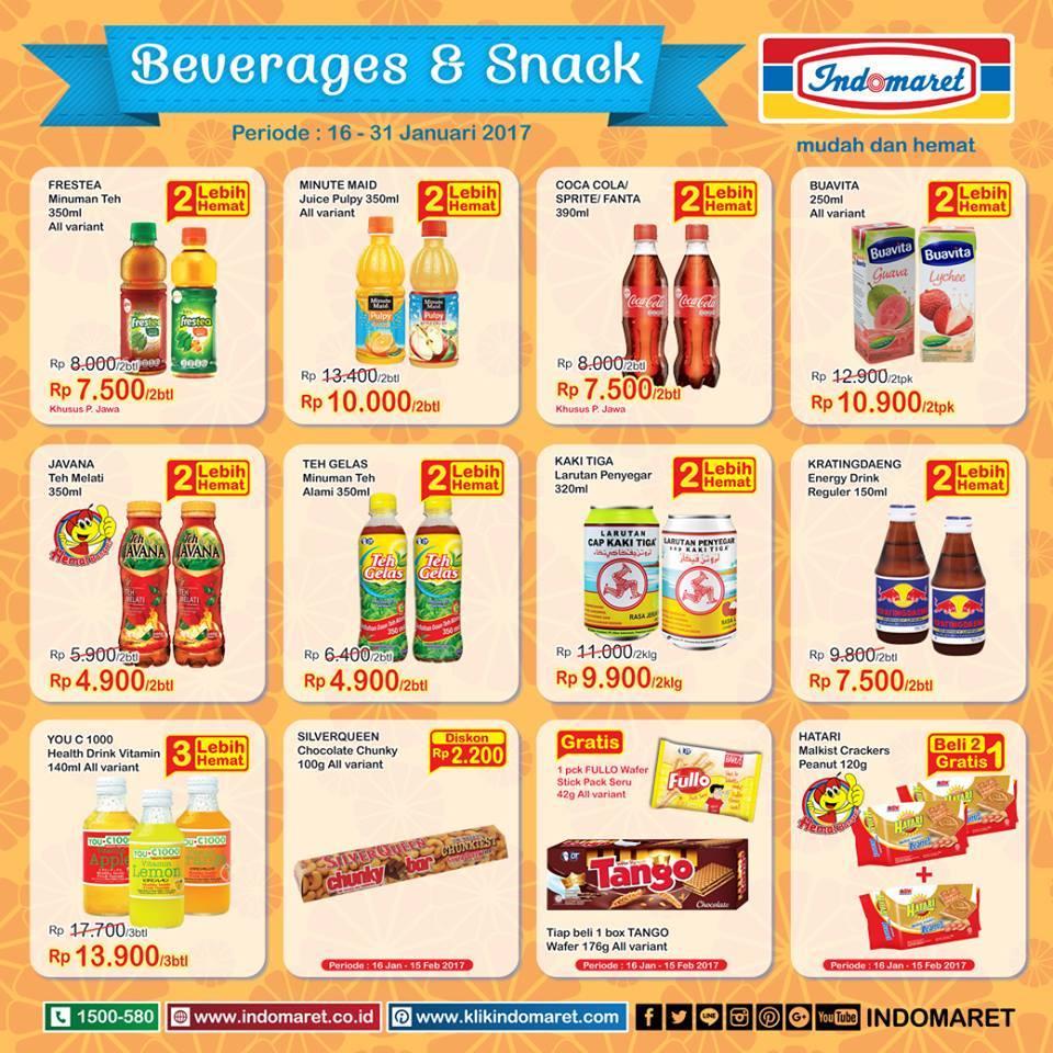 Indomaret Promo Spesial Beverage Snack Beli 2 Gratis 1 Harga