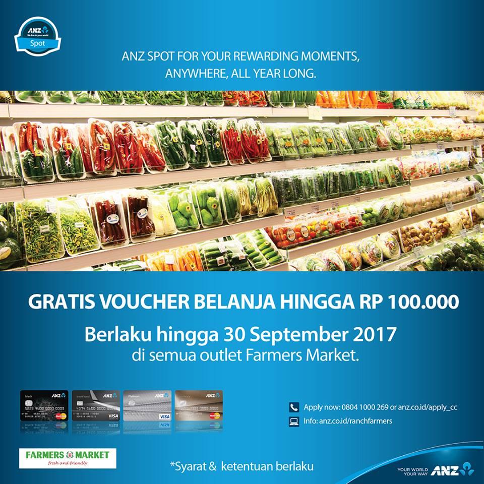 Farmers Market Promo Anz Card Gratis Voucher Belanja