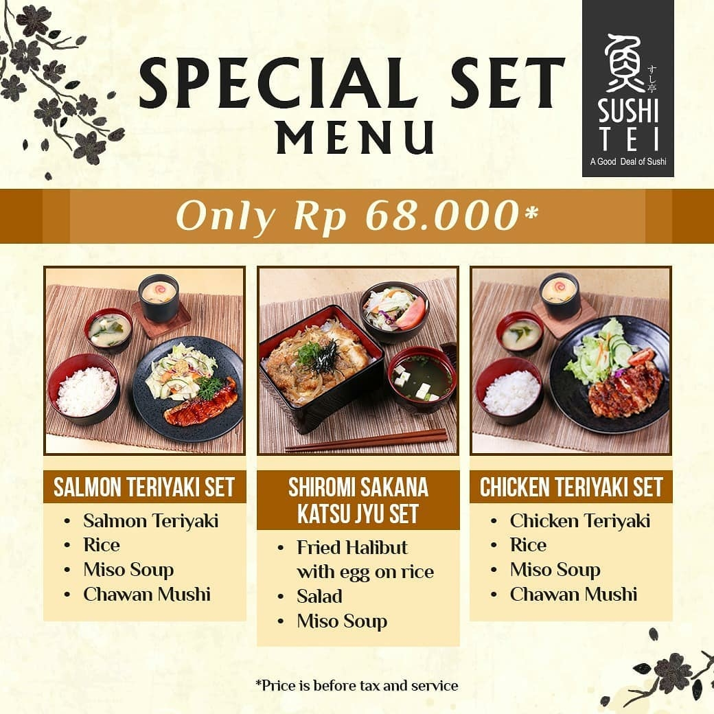 Sushi Tei Promo Spesial Lunch Set Menu Makan