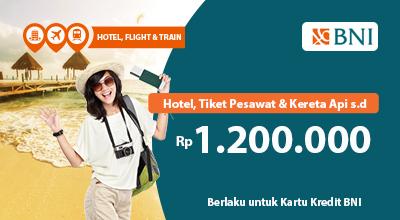 Pegipegi Promo Pesan Hotel Tiket Pesawat Kereta Api Pakai Kartu Kredit Bni Diskon Hingga Rp