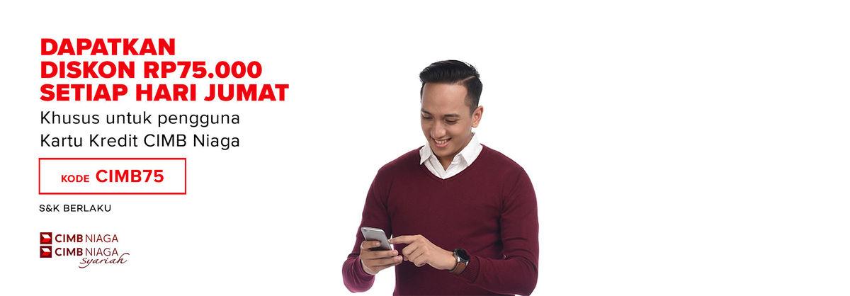 Lazada Promo Belanja Dengan Kartu Kredit Cimb Niaga Diskon Ekstra Rp 75 Ribu