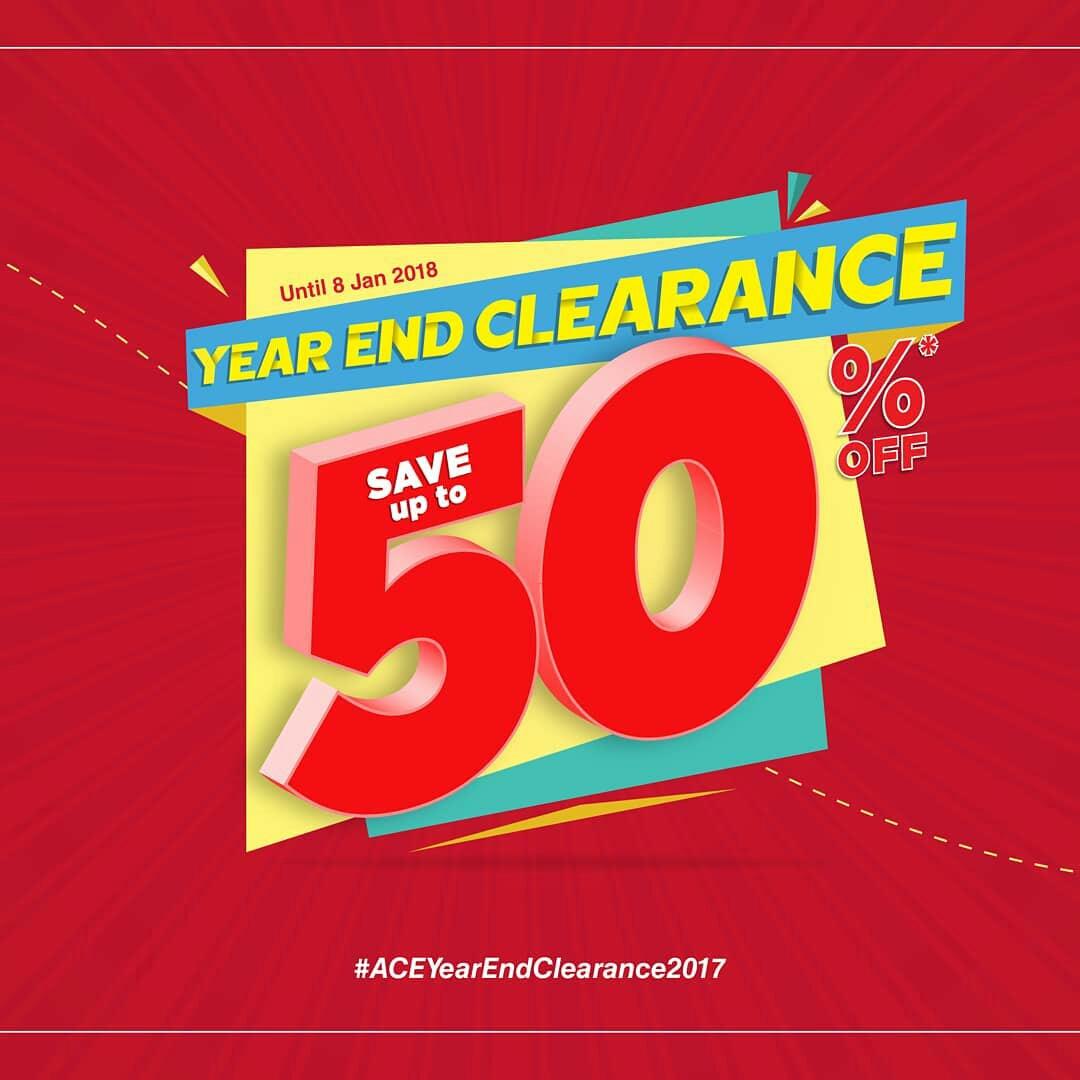 Ace Hardware Promo Year End Clearance Sale! Diskon Hingga 50%