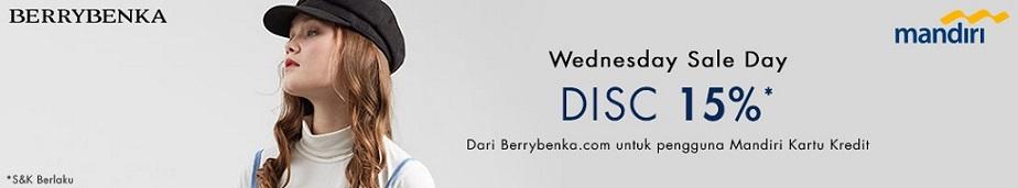 Berrybenka Promo Mandiri Wednesday Sale Day! Diskon 15%