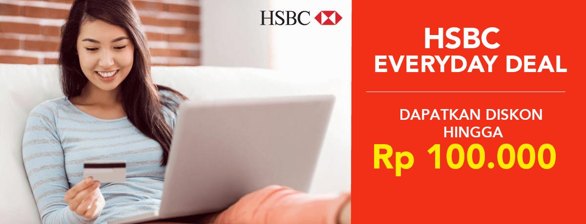 Blibli Promo HSBC Everyday Deal, Diskon Hingga Rp.100 Ribu