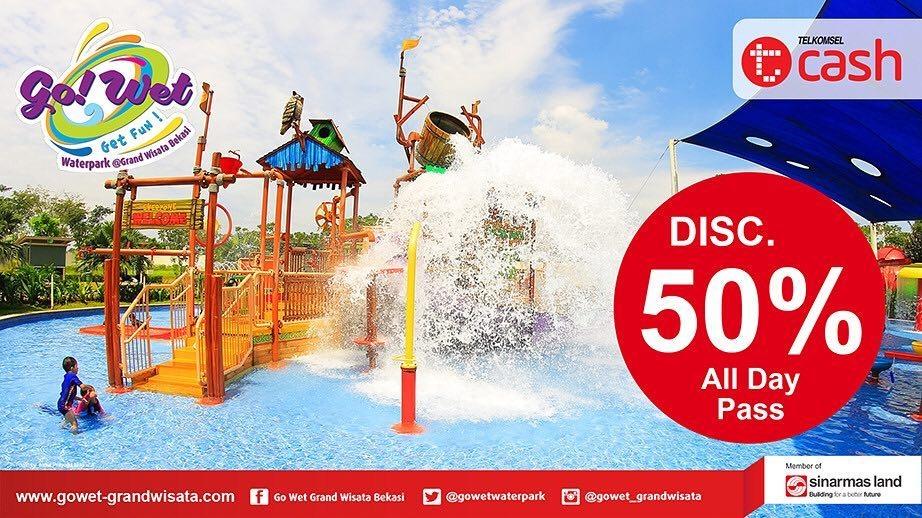 Go Wet Waterpark Promo Heboh Diskon 50% Dengan Tcash