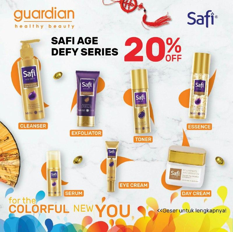 Guardian Promo Safi Age Defy Series, Diskon 20% OFF!