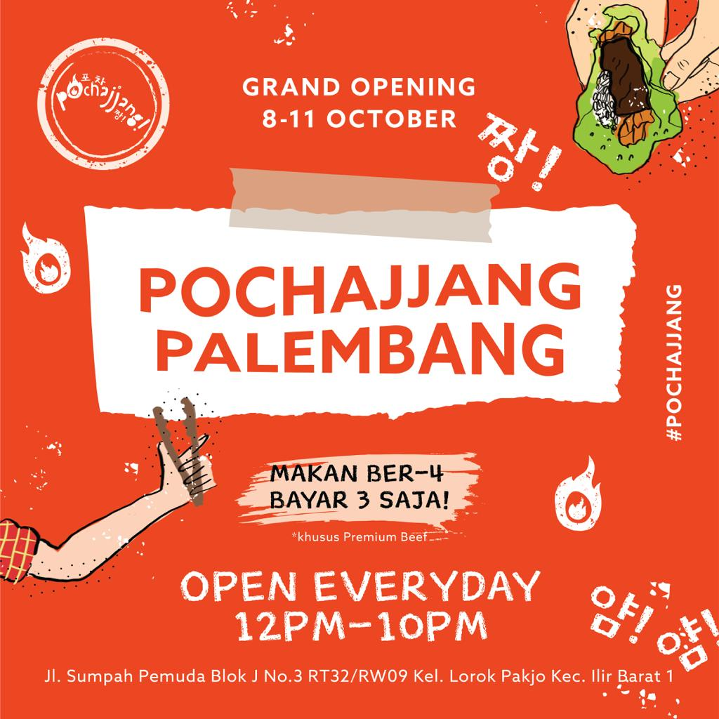 Pochajjang Korean BBQ Promo Grand Opening, Buy 3 Get 1 Freeeee!