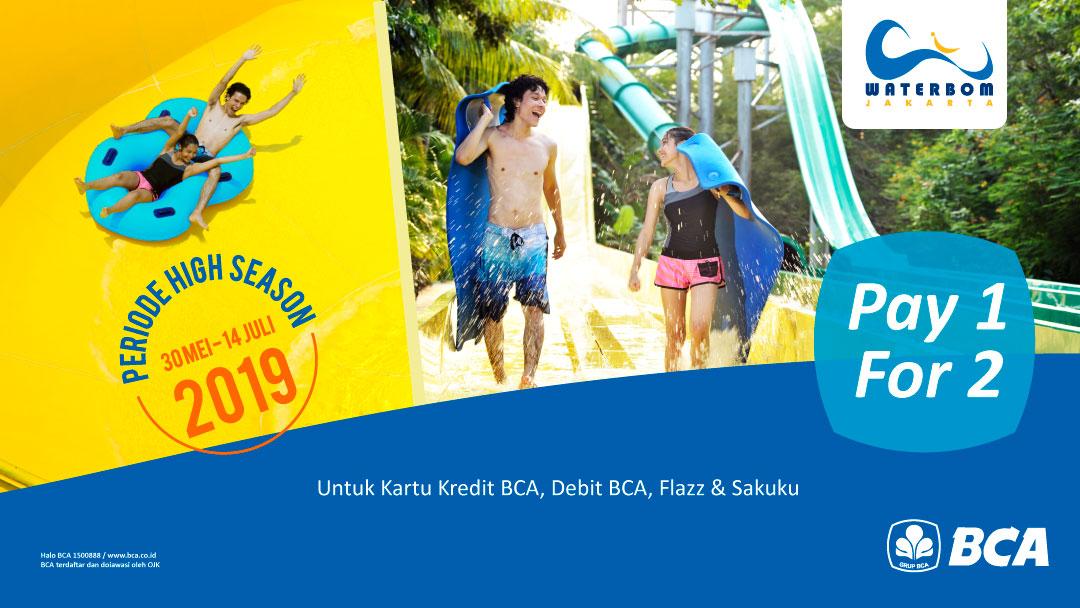 Waterbom PIK Promo Buy 1 Get 1 Free Dengan BCA Card