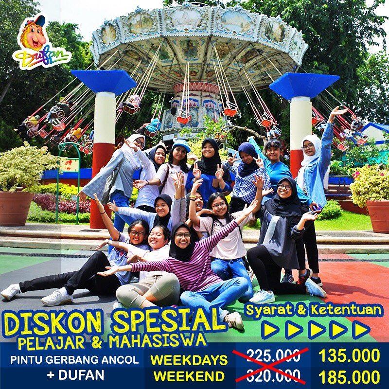 Ancol Dufan Promo Paket Hemat Pelajar Dan Mahasiswa, HARGA MULAI Dari Rp. 135.000