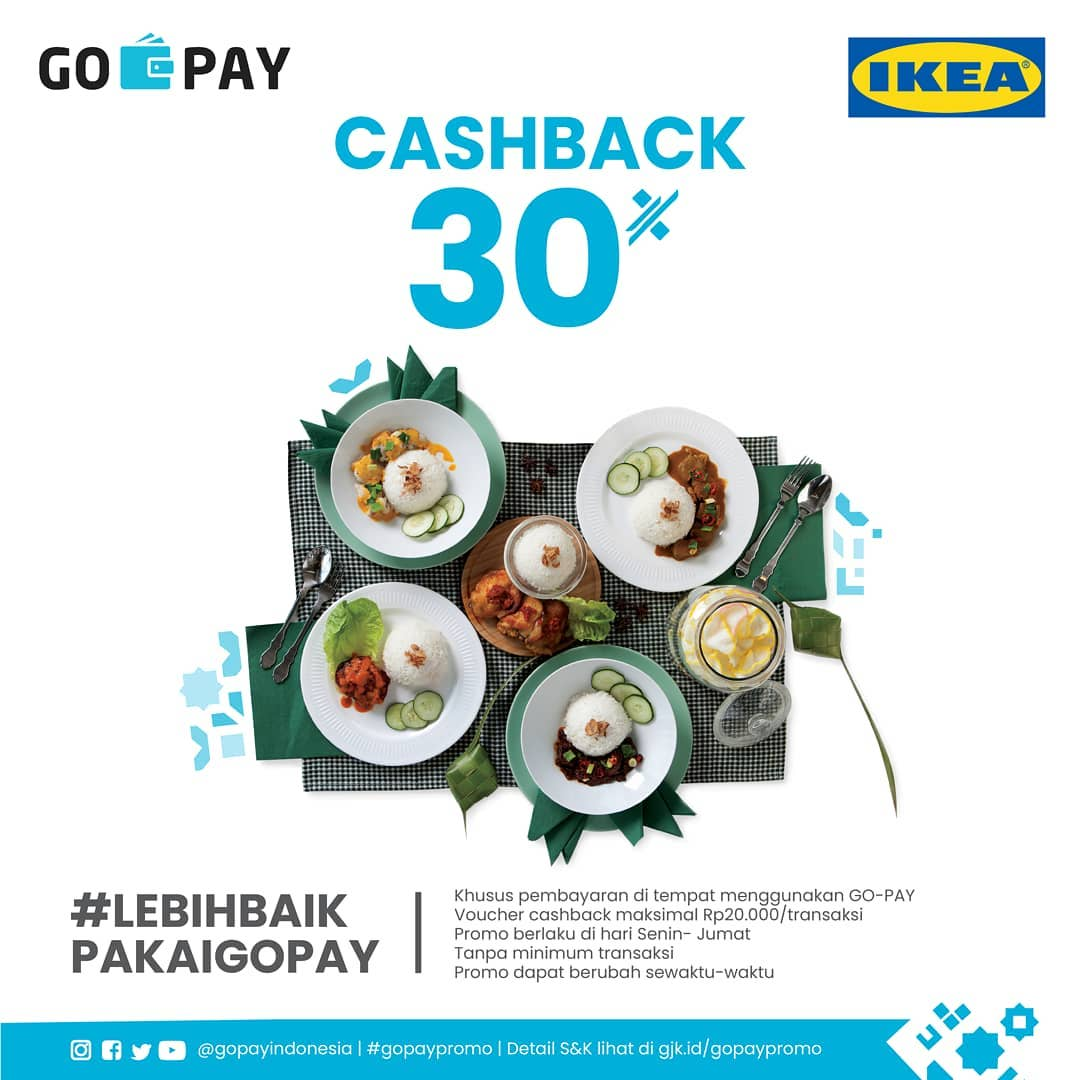 Ikea Food Promo Spesial Cashback 30 Dengan Gopay