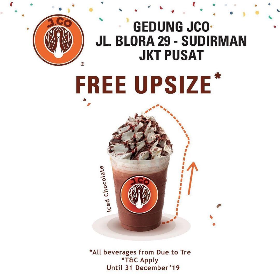Jco Donuts Promo Spesial Opening Store Di Sudirman, Gratis Upsize
