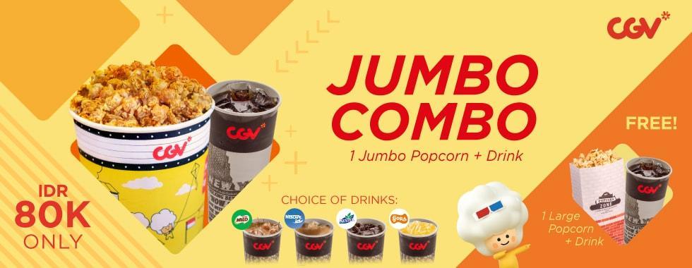 CGV Promo Nonton Asik Dengan Jumbo Combo, HARGA Rp. 80.000!