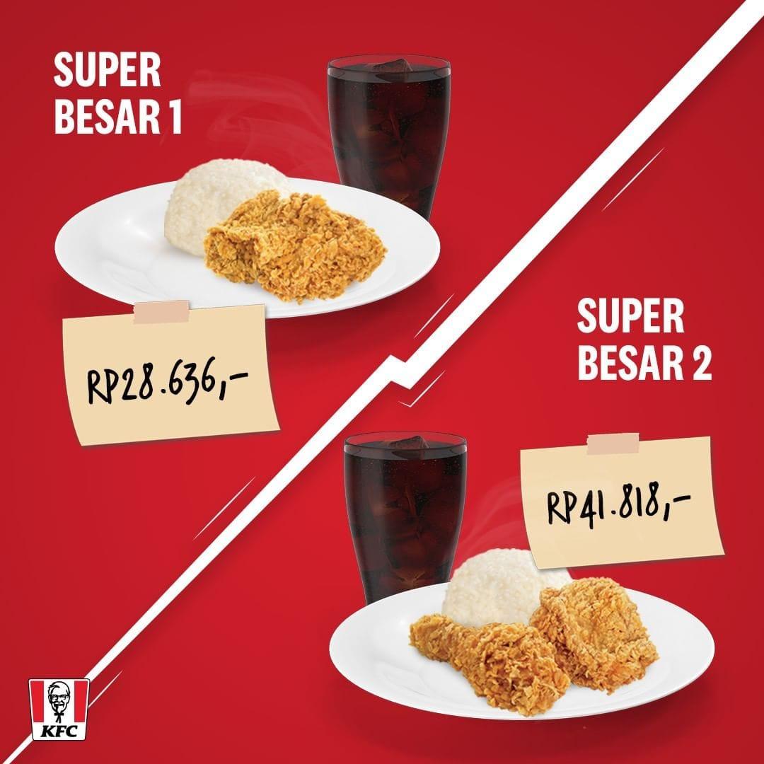 KFC Promo Paket Menu Hemat Super Besar, Harga Mulai Rp. 28 ...