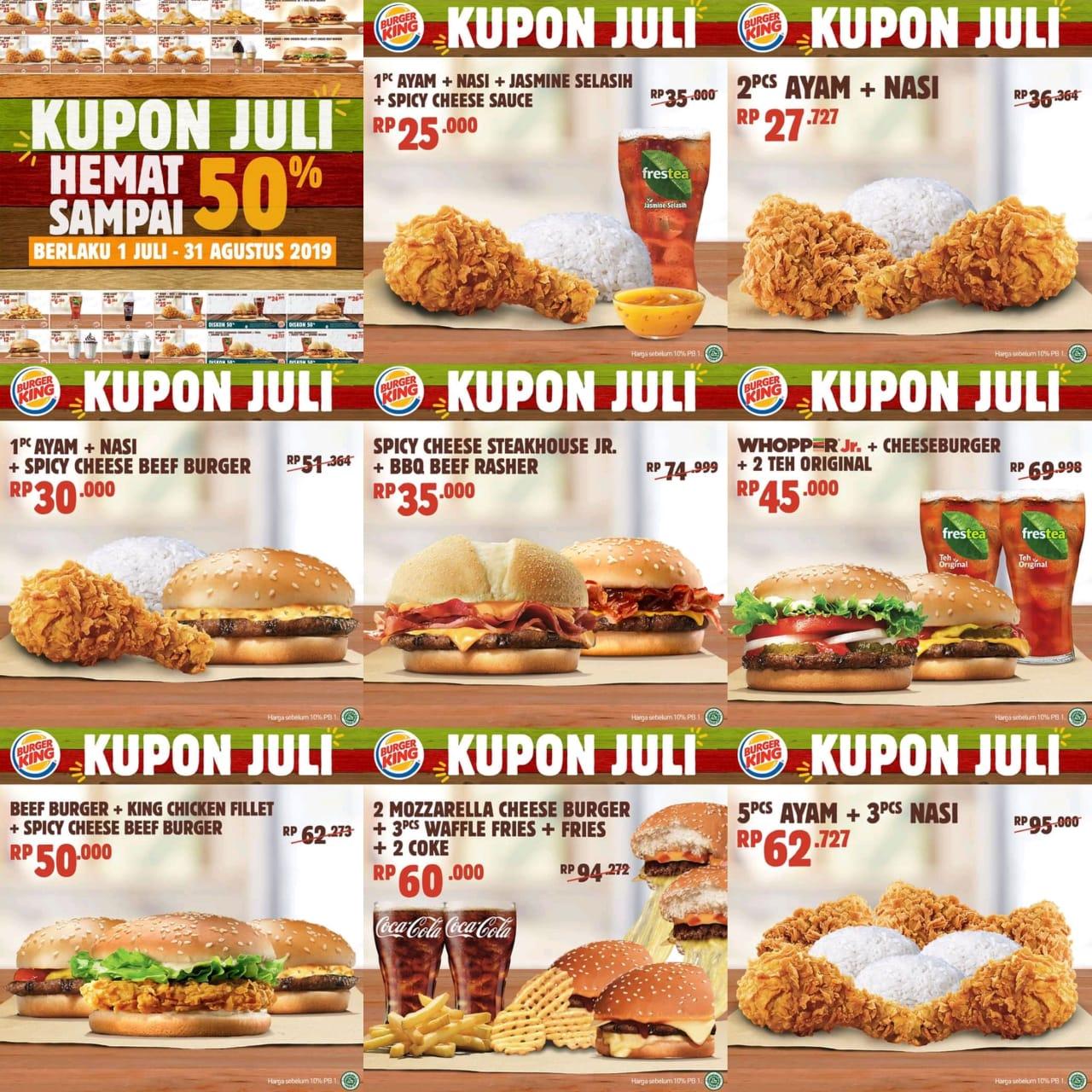 Kupon Promo Burger King