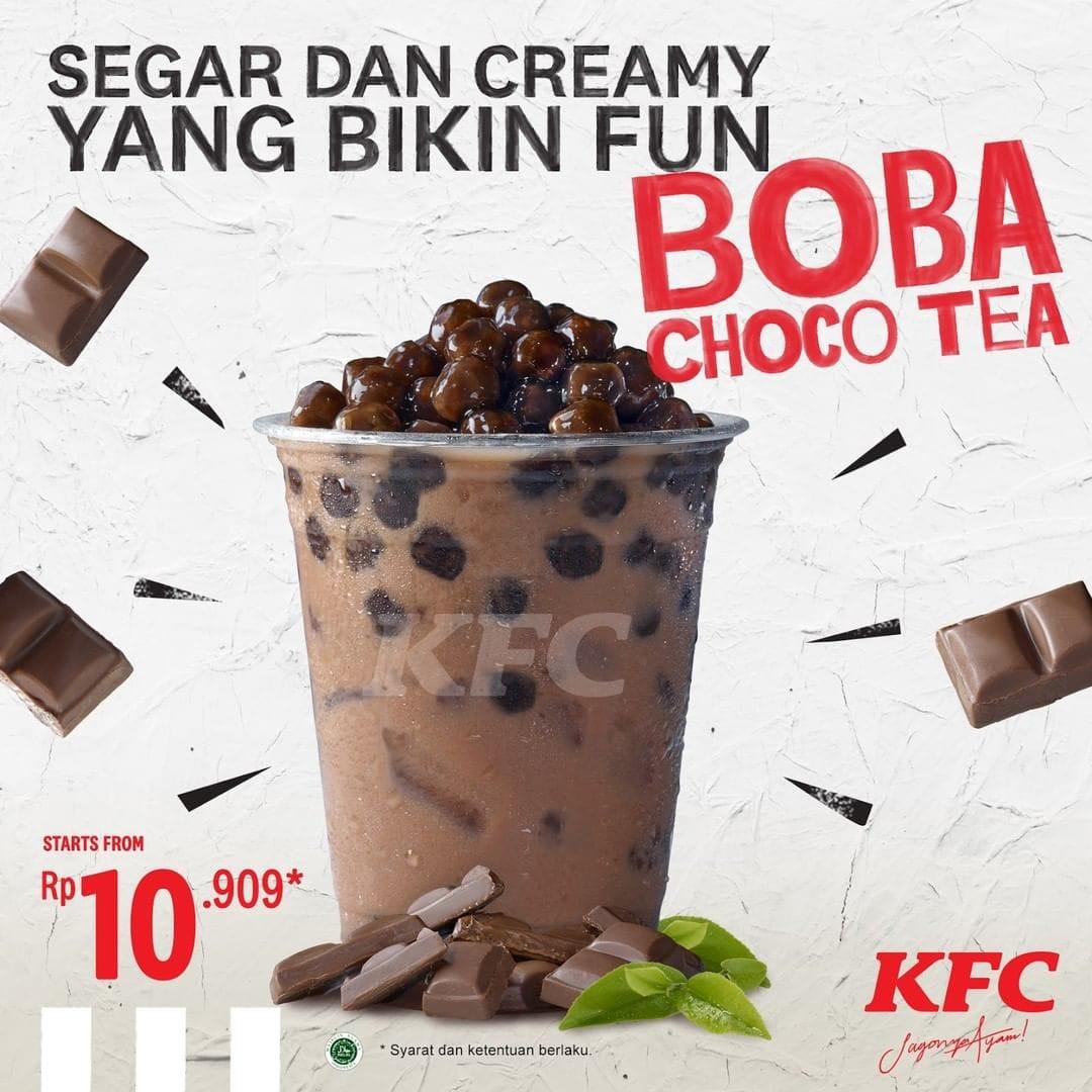 KFC Promo Menu Minuman Baru Boba Choco Tea, Harga Mulai Rp ...