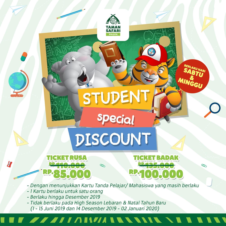 Taman Safari Prigen Promo Student Special Discount, HTM Mulai Rp. 85.000!