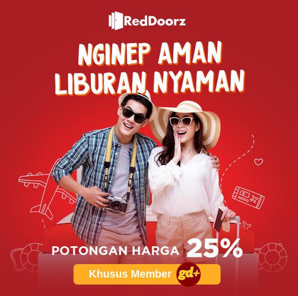Promo RedDoorz Spesial GD+, Voucher Diskon 25%