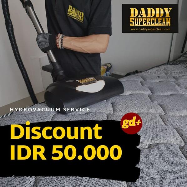 Promo Daddy SuperClean Special GD+ Member, Potongan Harga Rp 50.000 Untuk Hydro Vacuum