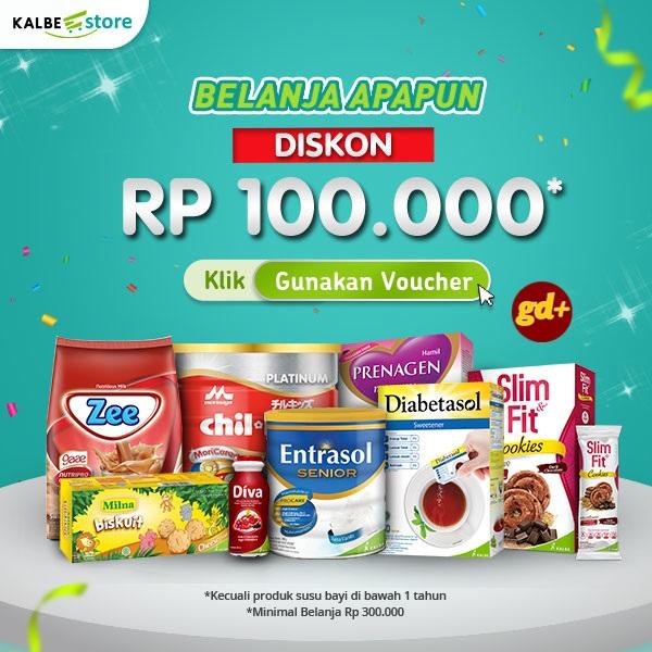 Promo KALBE Store Spesial GD+, Belanja Apapun Diskon Rp 100.000!