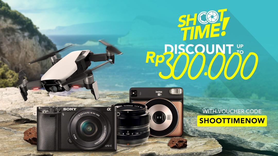 Blibli Promo Shoot Time Fair, Diskon Hingga Rp 300 Ribu