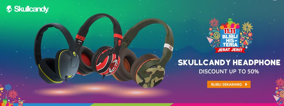 Blibli Promo Headphone Skullcandy Langsung Diskon Hingga 50%