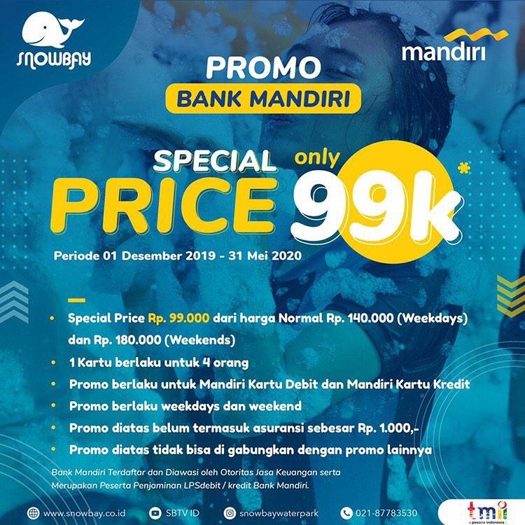 Snowbay Waterpark Promo Mandiri Card, HTM Cuma Rp. 99.000!