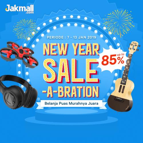 Jakmall.com Promo NEW YEAR SALE-A-BRATION, Diskon Hingga 85%