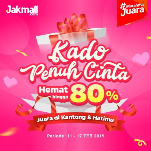Jakmall.com Promo Kado Penuh Cinta, Diskon Hingga 80%