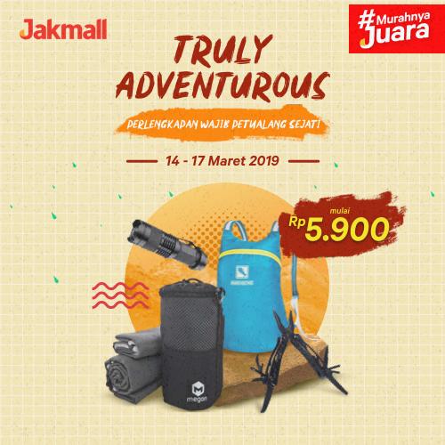 Jakmall.com Promo TRULY ADVENTUROUS, HARGA Mulai Rp 5.900!