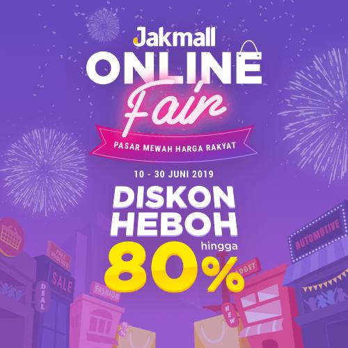 Jakmall.com Promo Jakmall Online Fair 2019, Pasar Mewah Harga Rakyat Diskon Heboh Hingga 80%!