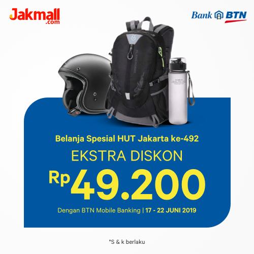 Jakmall.com Promo Bank BTN Spesial HUT Jakarta 2019, Diskon Rp. 49.200