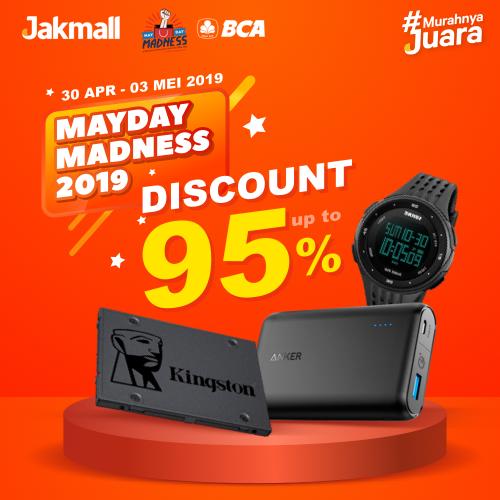 Jakmall.com Promo Mayday Madness, Diskon Hingga 95%