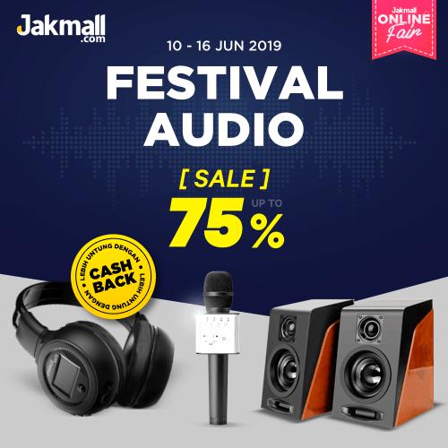 Jakmall.com Promo Festival Audio Jakmall Online Fair, Diskon 75% + CASHBACK