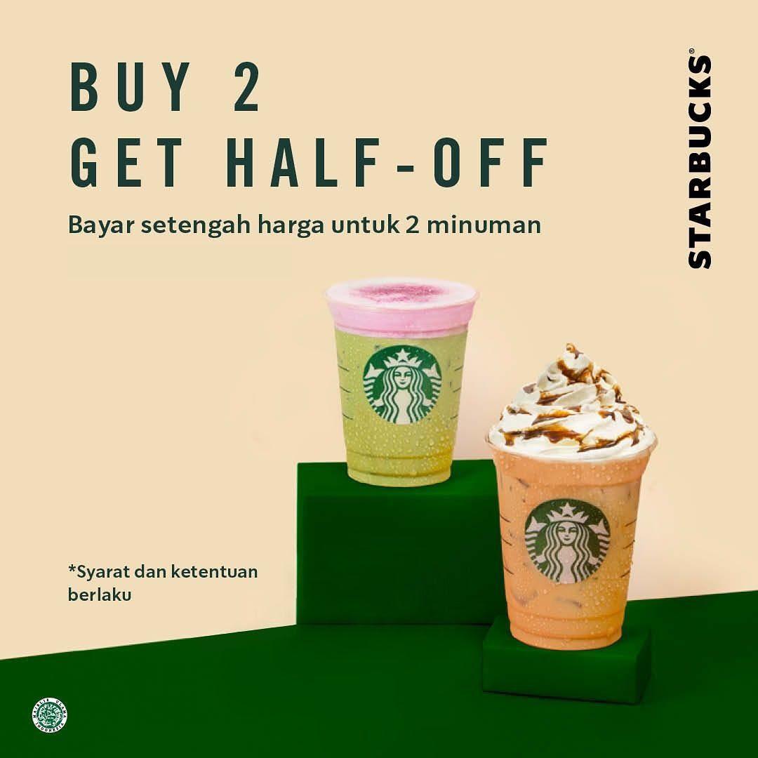 Starbucks Promo Spesial Selasa Ceria, Diskon 50% Untuk Pembelian Kedua!