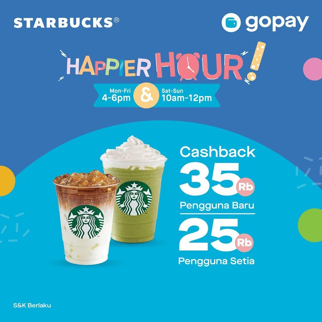 Starbucks Promo Happiest Hour, Cashback Sampai Rp. 35.000!