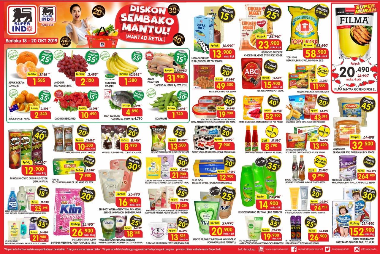 Katalog Promo JSM Superindo Supermarket Periode 18-20 Oktober 2019