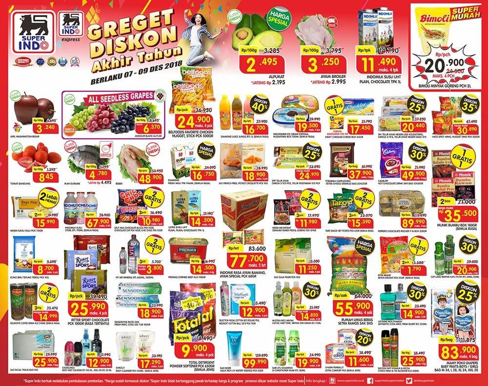 Katalog Promo JSM Superindo Supermarket 7-9 Desember 2018