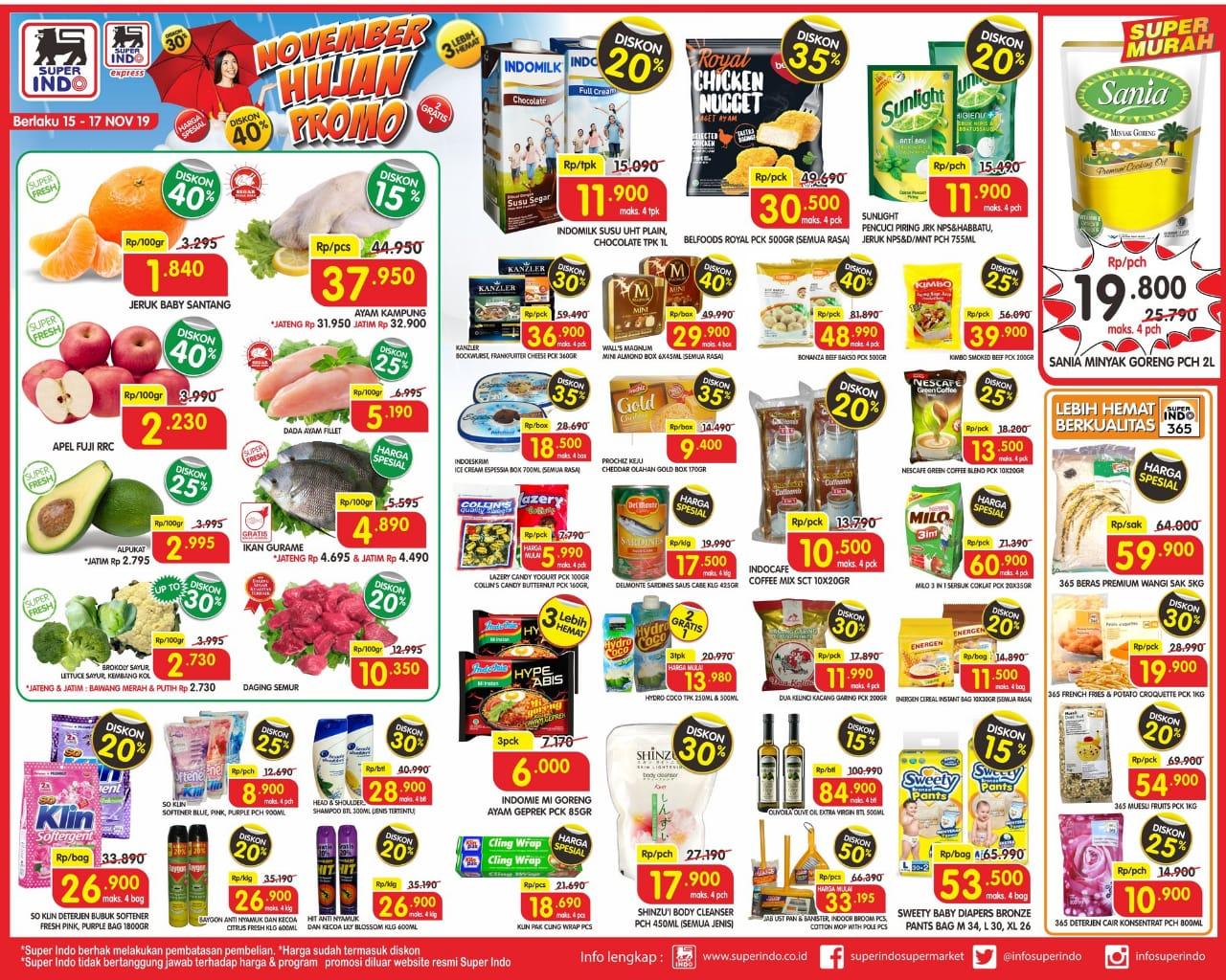 Katalog Promo JSM Superindo Supermarket Periode 15-17 November 2019